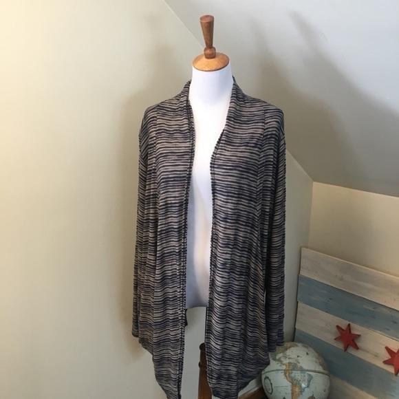 torrid Sweaters - torrid Striped Lightweight Open Cardigan 3 3X